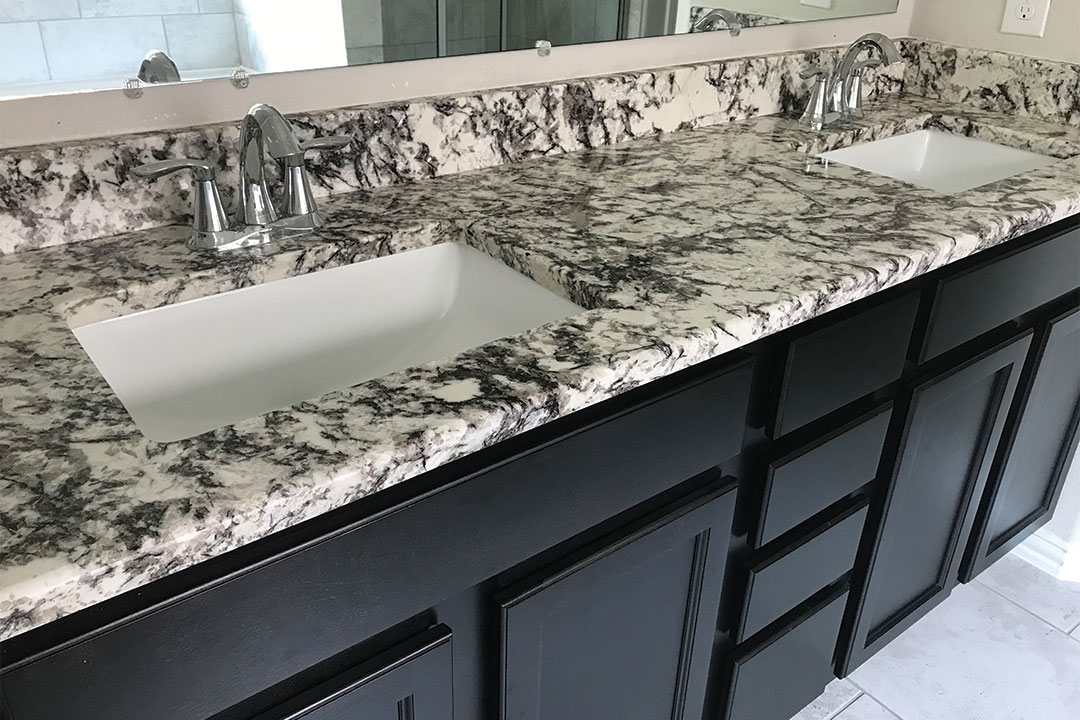 master bathroom counters after