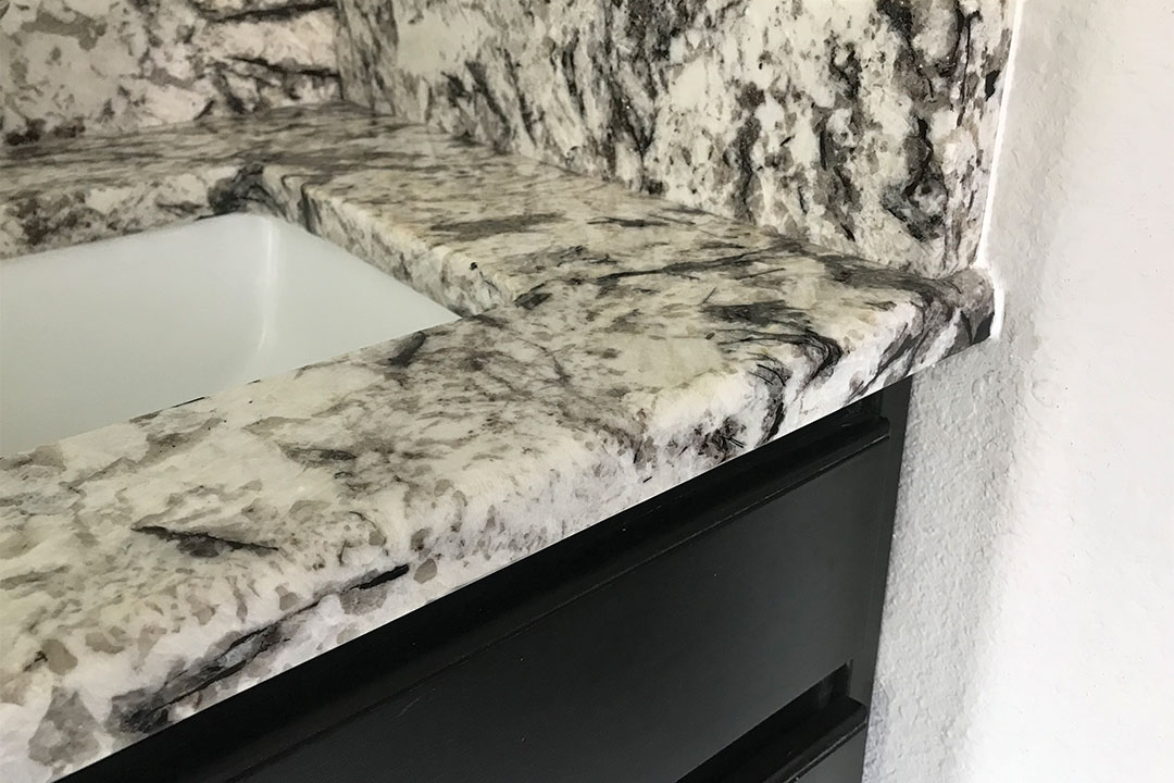 picture of how granite putty is undetectable