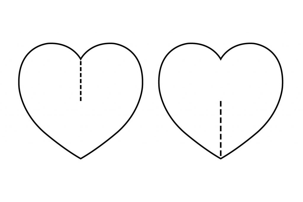 cuts used to join the hearts together