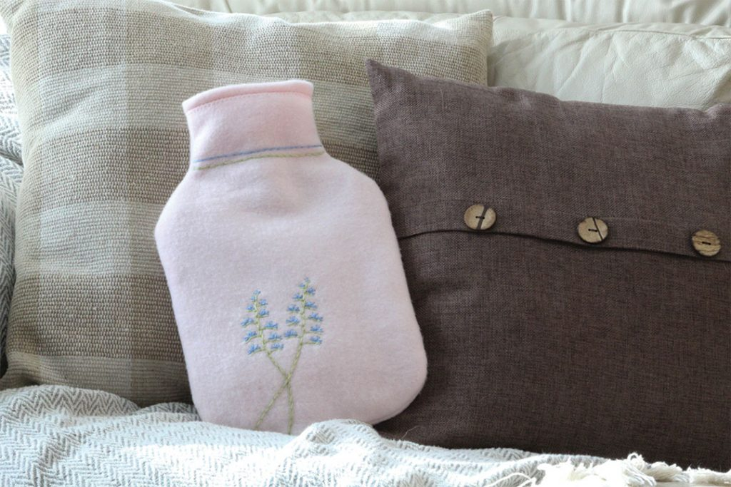 how to make a hot water bottle cover, free sewing pattern and tutorial