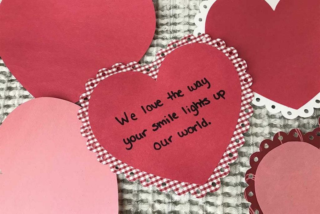 Valentine's Day tradition for kids, write love notes to your kids