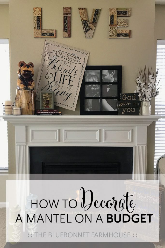 how to decorate a fireplace mantel on a budget, budget-friendly decor
