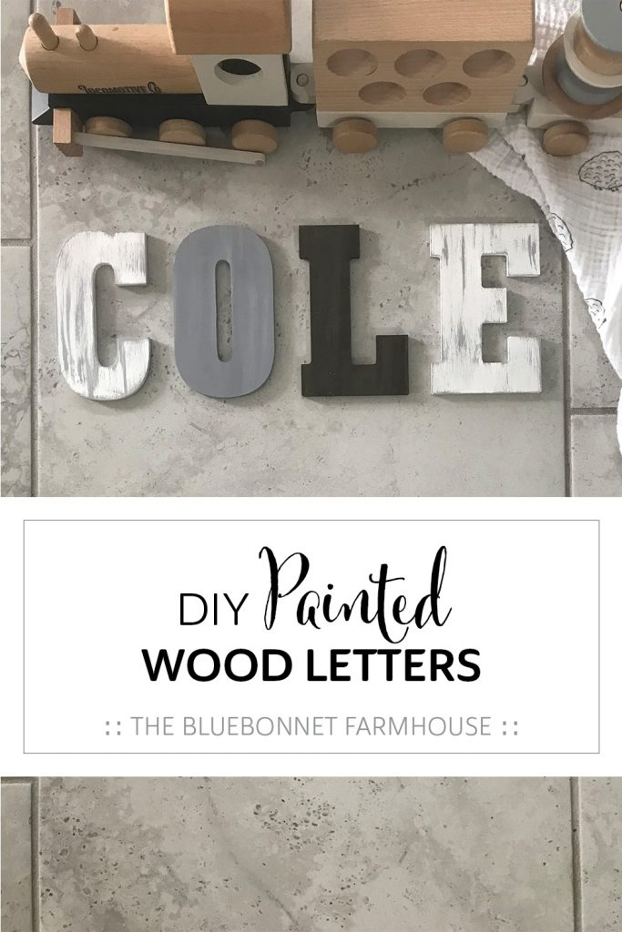 DIY painted wood letters, how to paint distressed wood letters