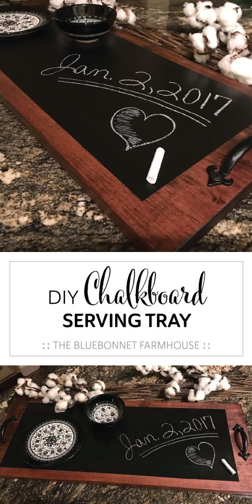 diy chalkboard serving tray, how to make a chalkboard serving tray