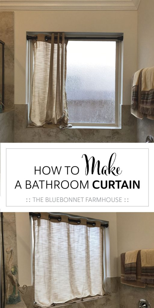 how to make a bathroom curtain, how to hem a curtain, diy bathroom curtain
