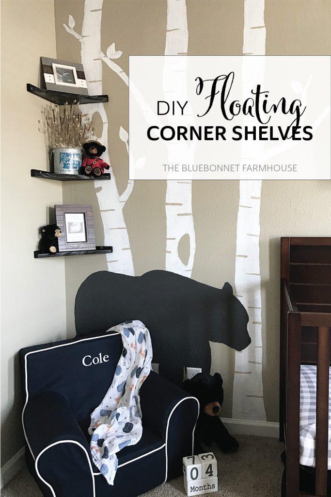 DIY floating corner shelves