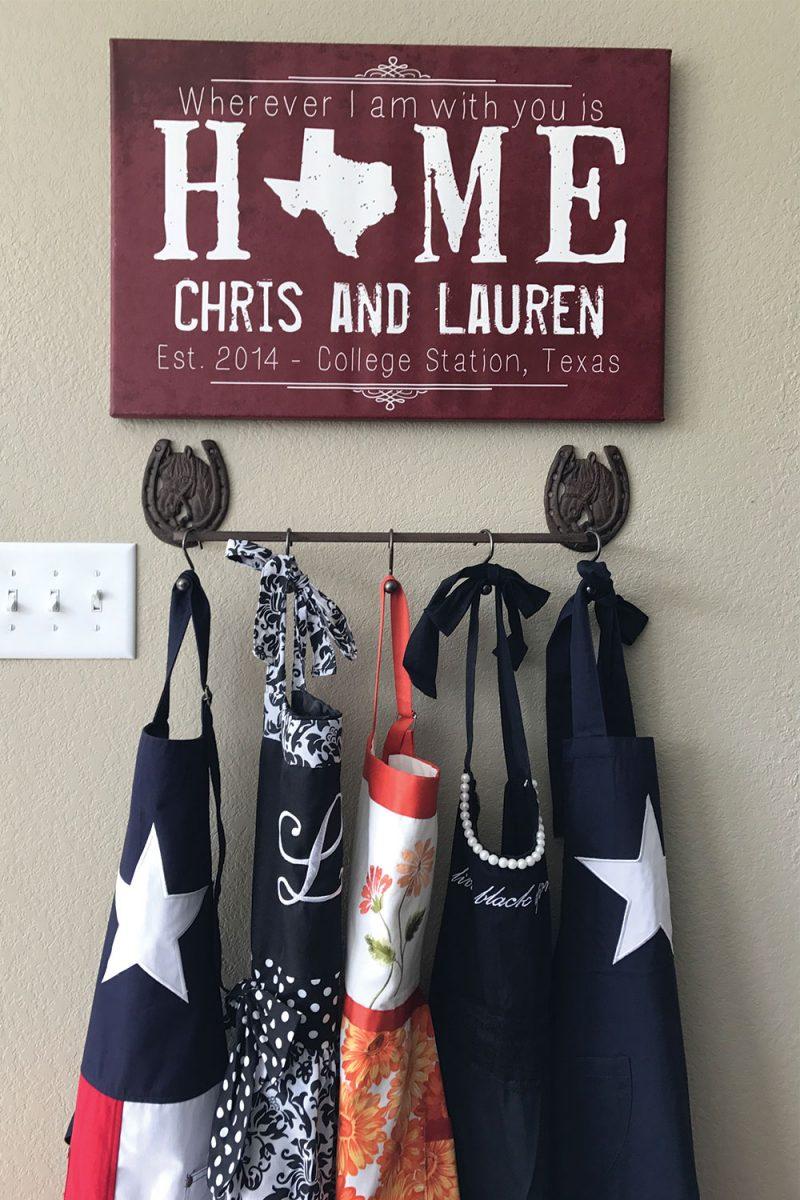 thrifty kitchen apron hooks